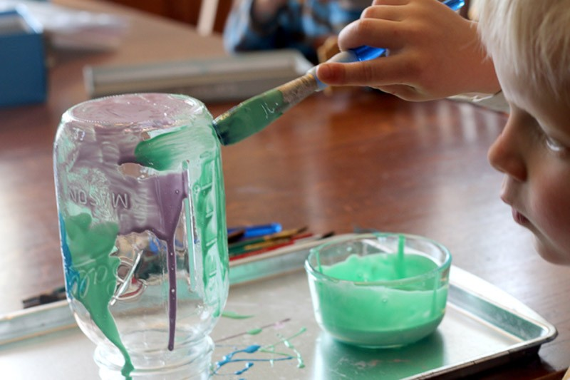 How To Tint Mason Jars So Simple The Kids Did It Hands