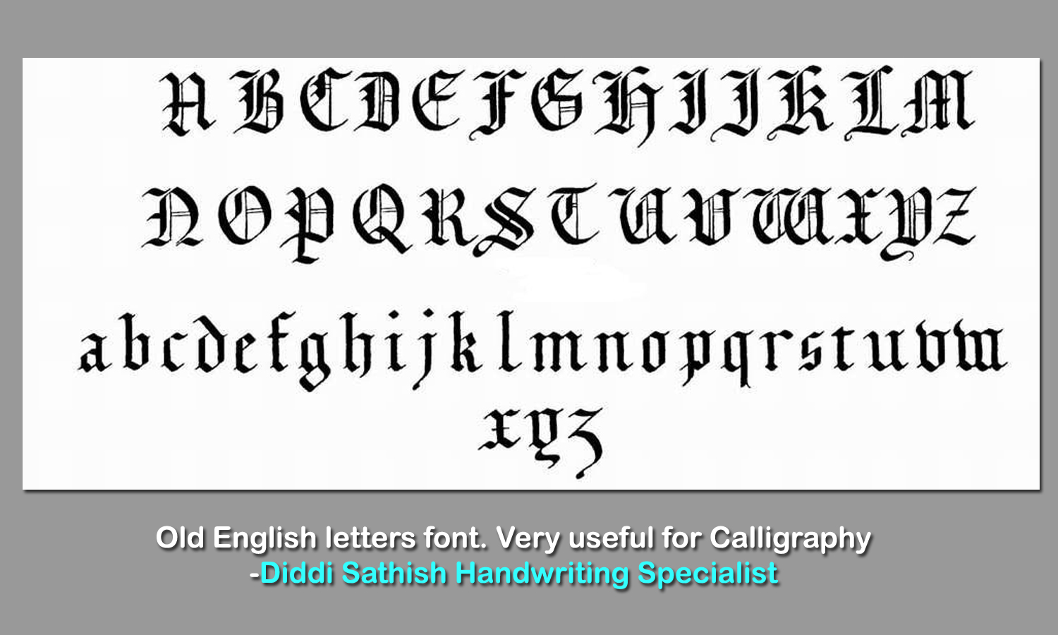 Old Calligraphy Font Free Handwriting Calligraphy Notes Handwritingtech