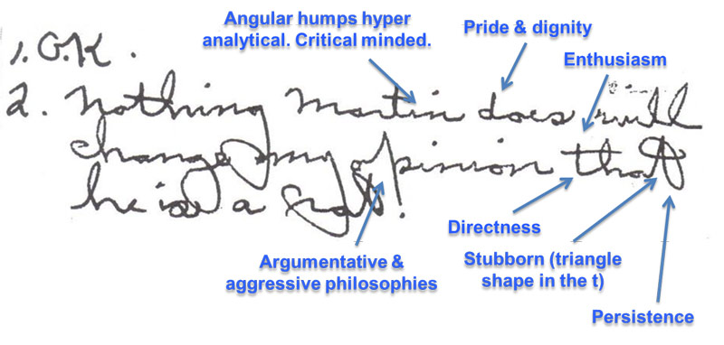 handwriting university traits Handwriting analysis Pinterest - sample analysis report