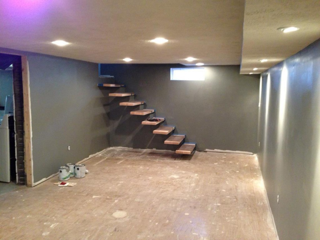 How To Build Floating Stairs Drywall The Floating Stair Base Handy Father Llc