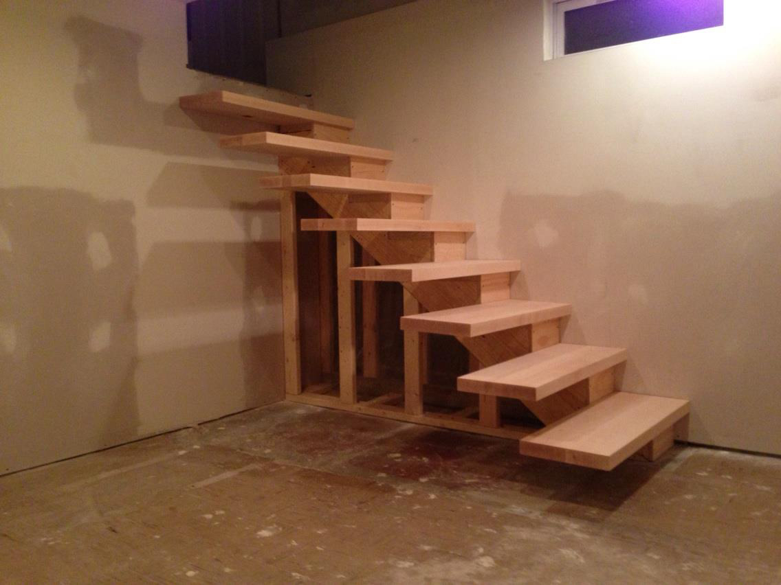 How To Build Floating Stairs How To Build Floating Stairs Handy Father Llc