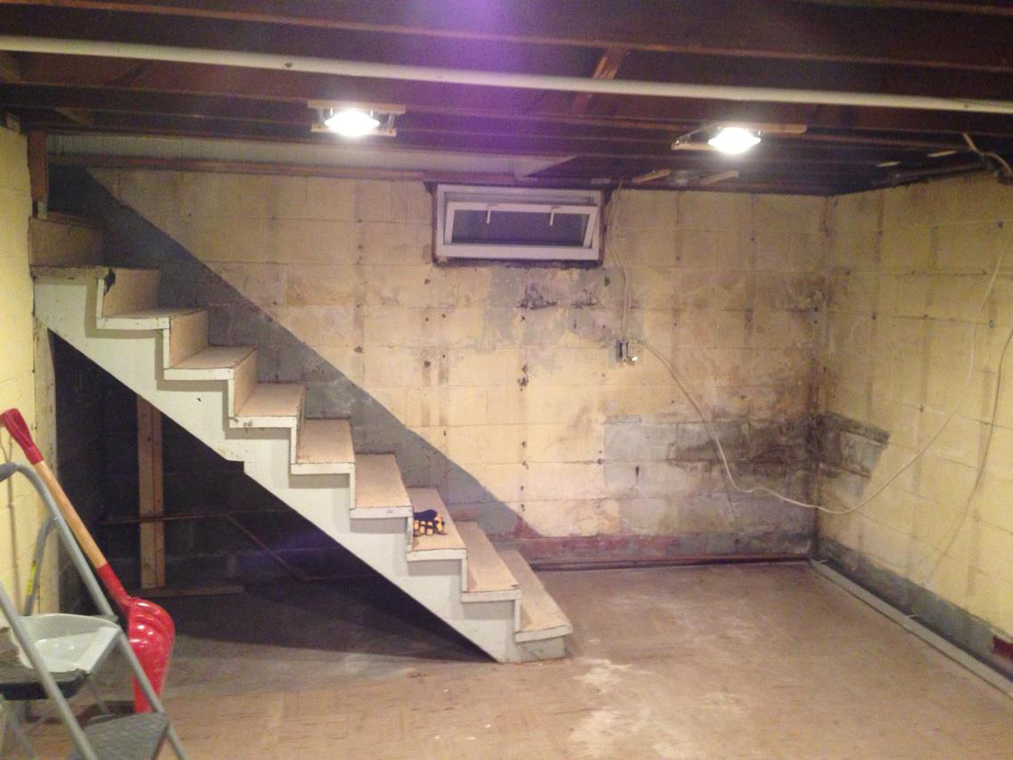 How To Build Floating Stairs Gutted Basement How To Finish A Basement Handy Father Llc