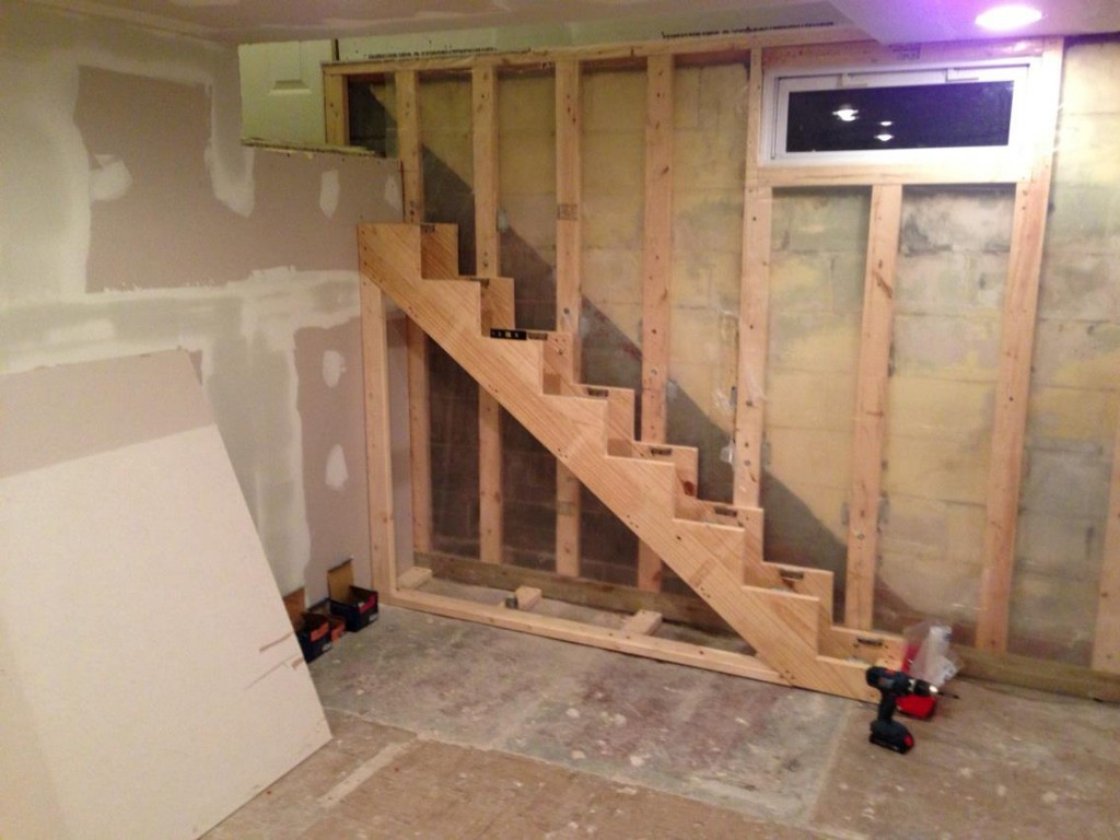 How To Build Floating Stairs Test Fitting The Stair Support Structure Handy Father Llc