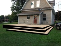 diy deck design sample platform with no railing - Handy ...