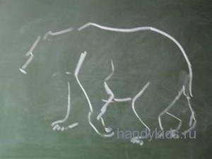 Рисуем медведя поэтапно