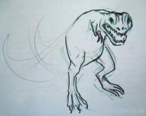 Рисуем тиранозавра