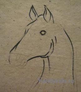 Нарисуем голову лошади поэтапно