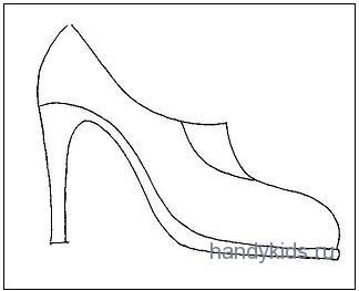 Раскраска Обувь