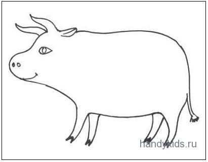 Раскраска Корова