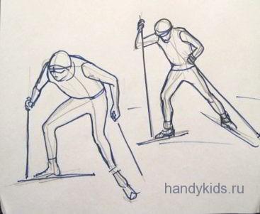 Лыжники-спортсмены