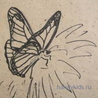 Бабочка-рисунок