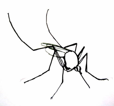 Рисунок комар