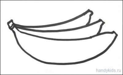 Раскраска бананы