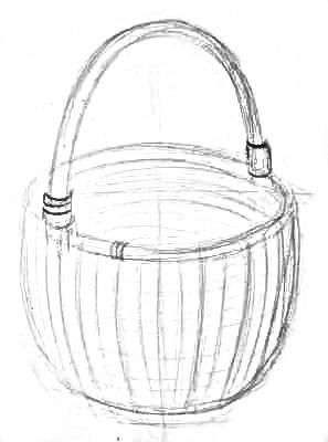 Рисуем корзину поэтапно