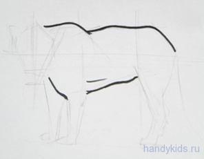Рисуем ягуара поэтапно