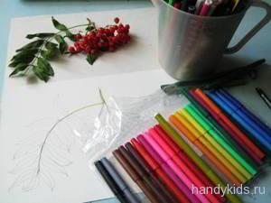 Как нарисовать рябину