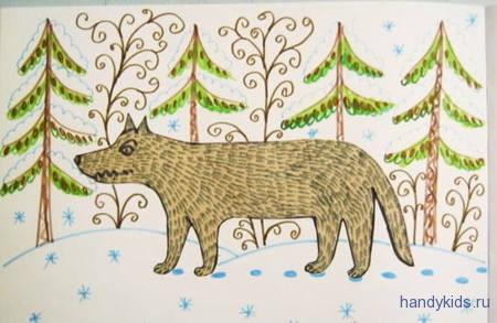 Раскраска Волк