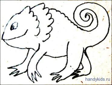 Раскраска Сказочное животное