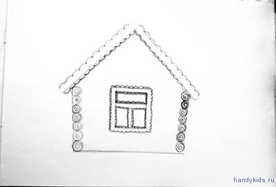 Рисунок домик