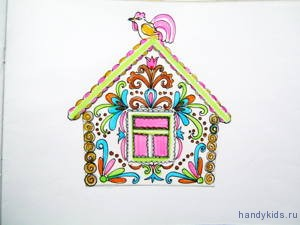 пряничный домик -рисунок