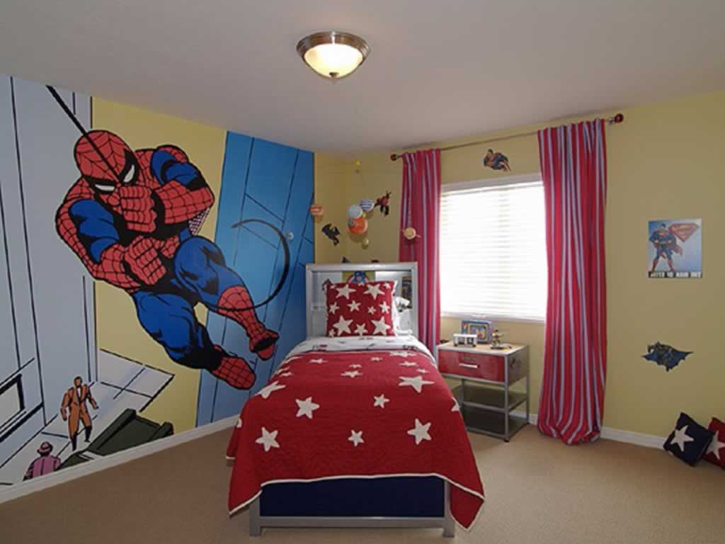 Spiderman Room Choosing The Best Mural Themes For Your Kids Bedroom
