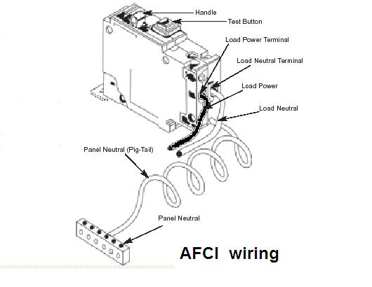 arc fault circuit wiring diagram