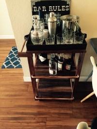 Walnut and Copper Bar cart. | Handy Murse