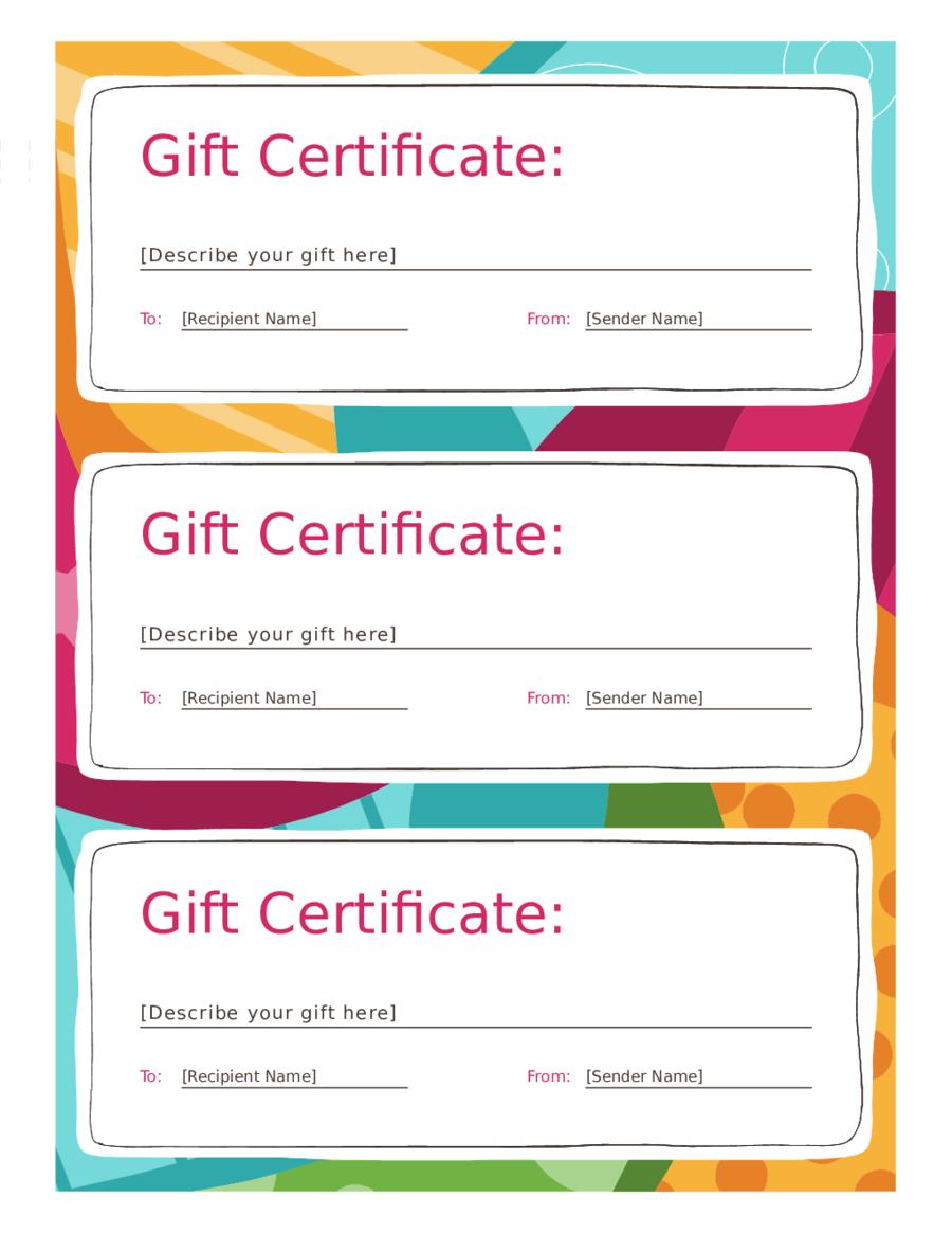 gift certicate template