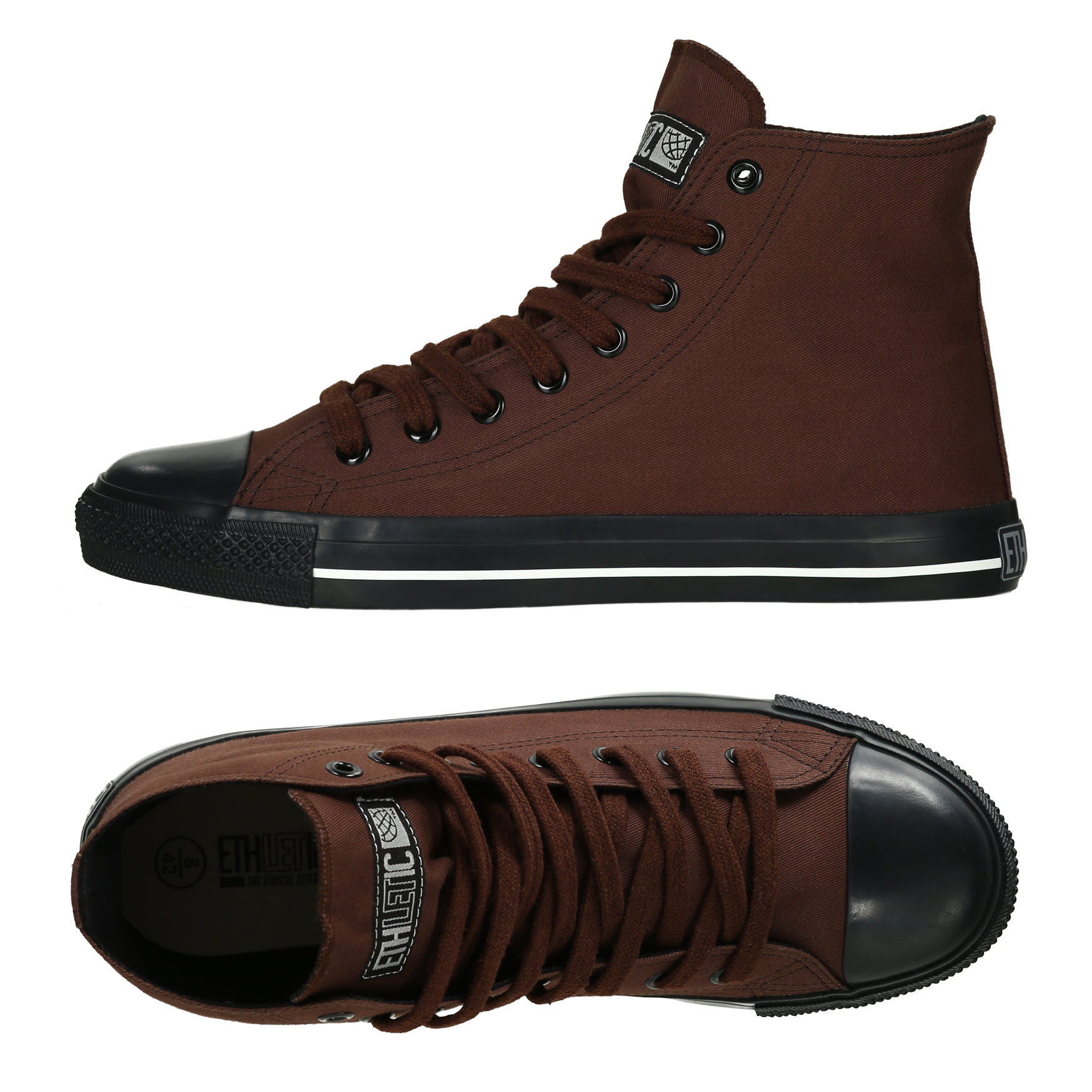 Farbe Nut Ethletic Sneaker Vegan Hicut Collection 17 Farbe Nut Brown