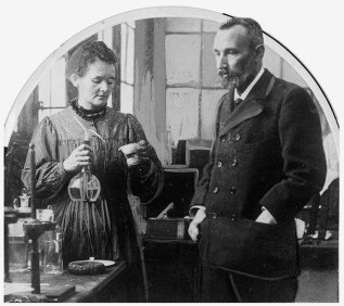 Scientists Pierre and Marie Curie