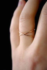 X ring, 14K Rose Gold fill - Hannah Naomi Jewelry