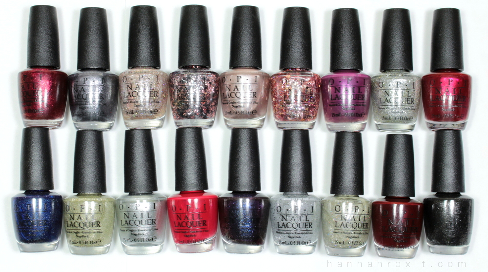 Opi Holiday 2015 Starlight Collection Swatches Review