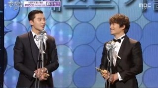 MBC演技大賞でパク・ソジュンが優秀演技賞、そしてチソンと男同士でベストカップル賞を受賞