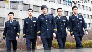 軍服務中のチャンミン、シウォン、ドンヘ、ソンジェが警察庁のポスターに登場