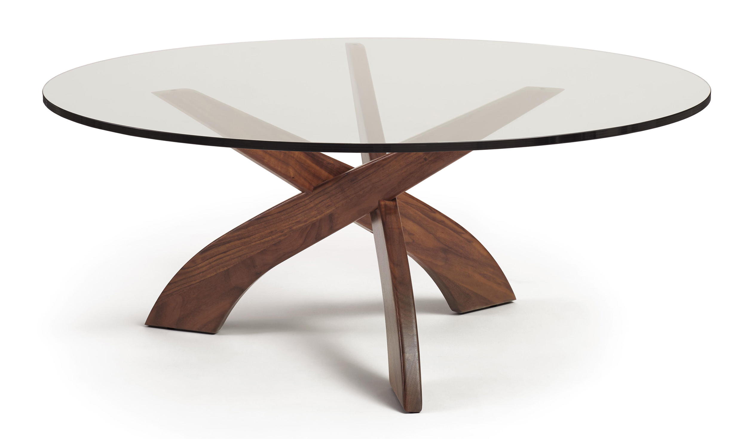 Round Glass Top Coffee Table Entwine Round Coffee Table