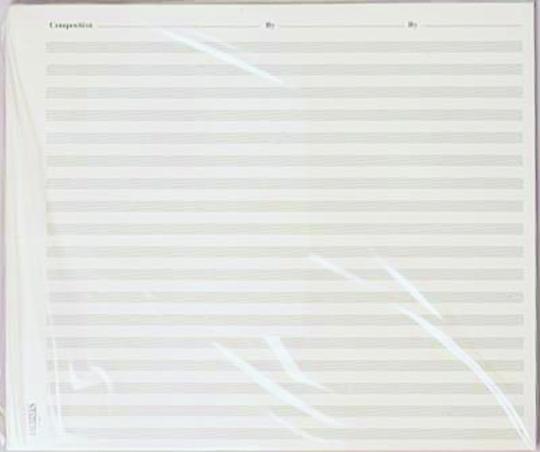 Large Staff Paper \u2013 Music