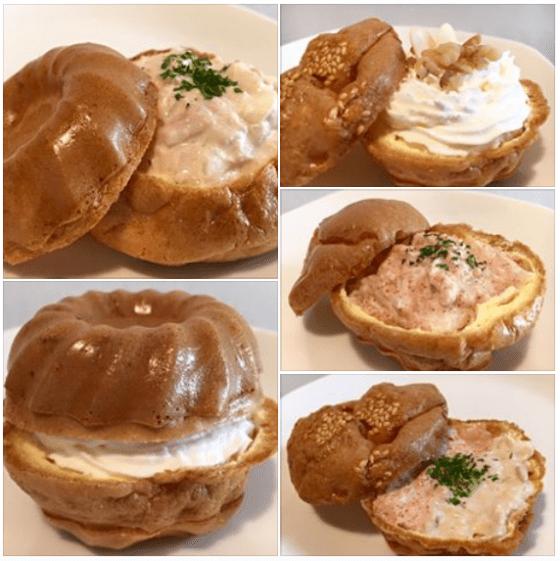 クグロフ模様の卵デニッシュークリーム