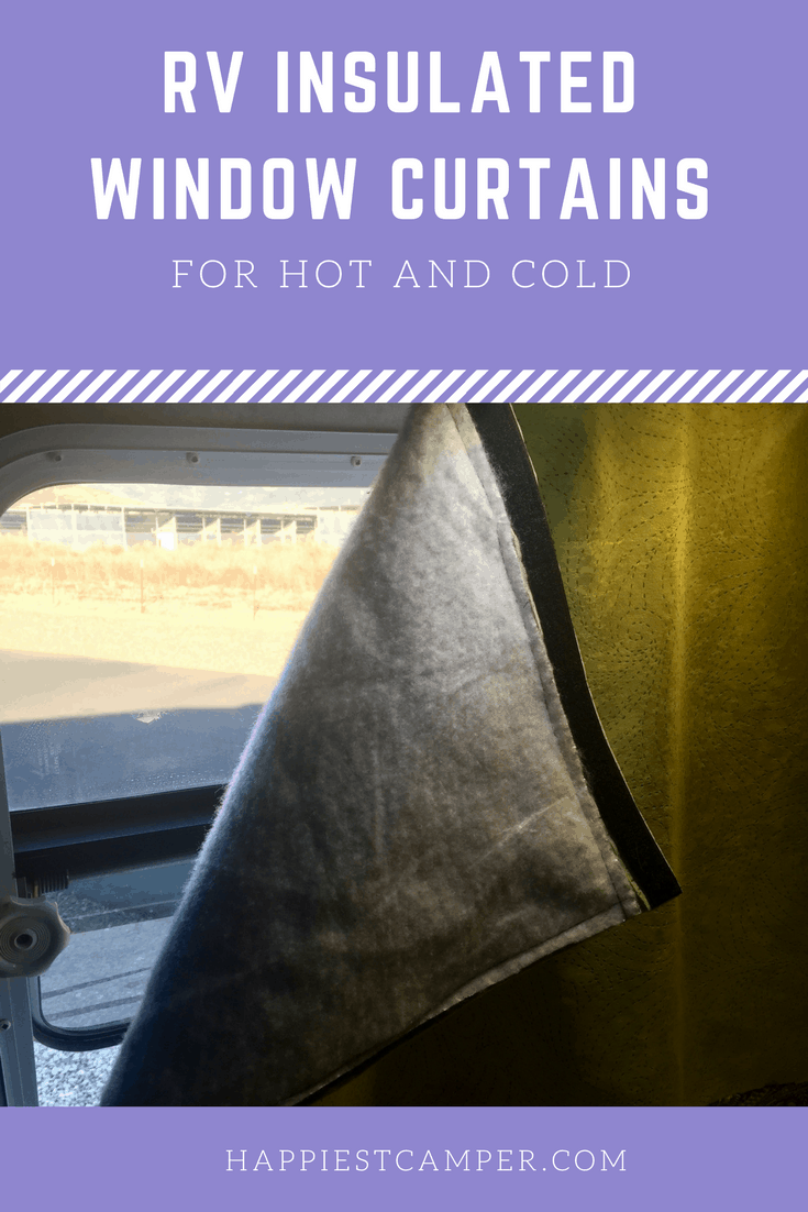 Curtain Insulation Fabric Rv Window Coverings For Temperature Control Happiest Camper