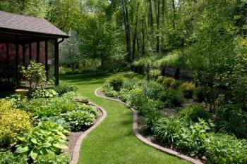 Beautiful Backyard with Scotts Florida Select Much
