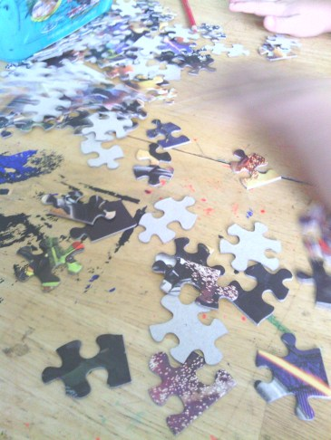 Puzzle Time with Preschooler