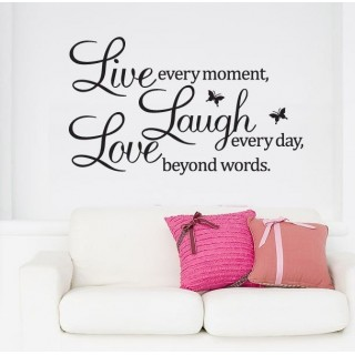 beautiful words wall art