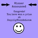 Happily Blended Blog Giveaway Winner