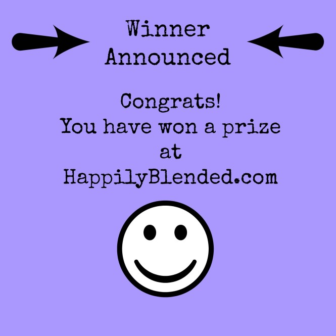 Happily Blended Blog Giveaway Winner