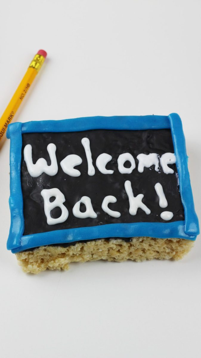 First Day of School Snack - Chalkboard Rice Krispies