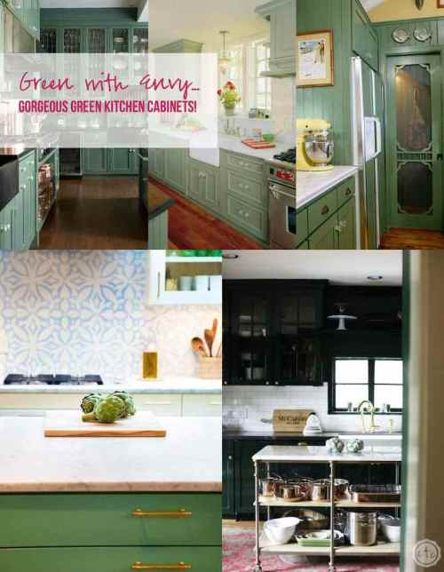 Medium Of Green Kitchen Cabinets