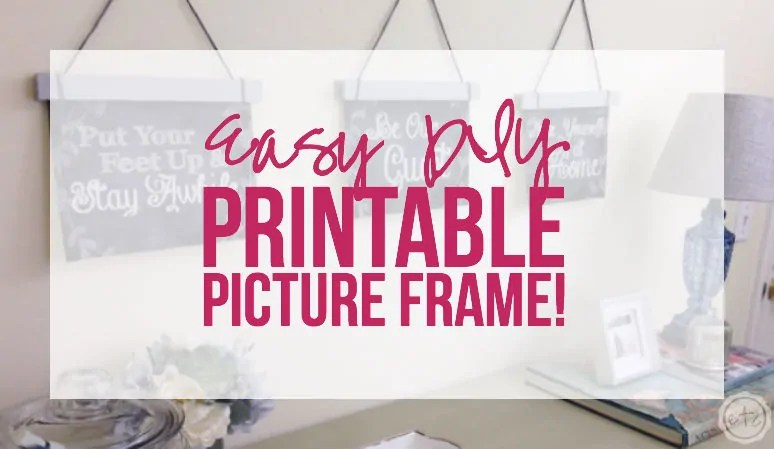 Easy DIY Printable Picture Frame! - Happily Ever After, Etc