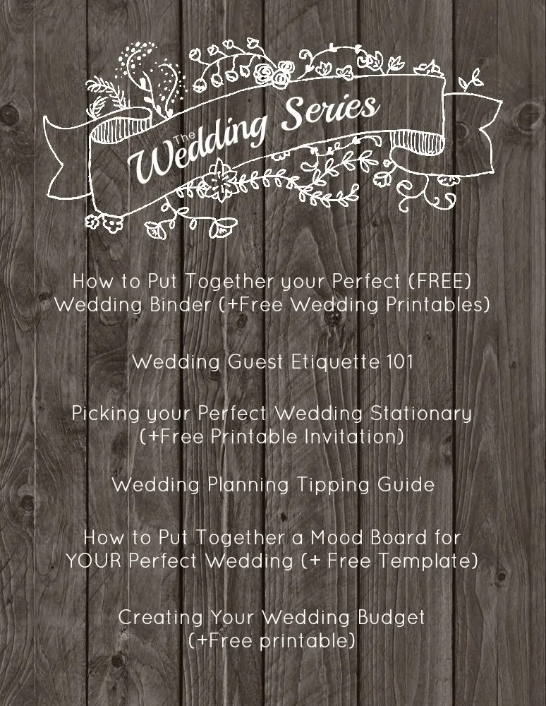 How to Put Together Your Perfect (FREE) Wedding Binder (+ 42 Free