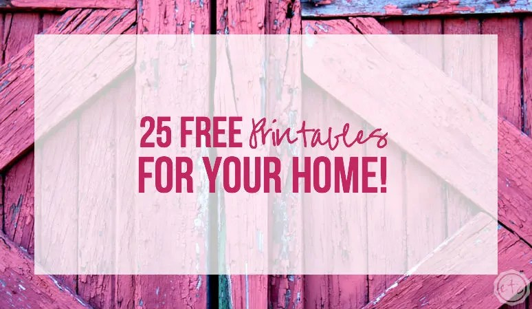 25 FREE Printables For Your Home! - Happily Ever After, Etc - free printable sorry cards