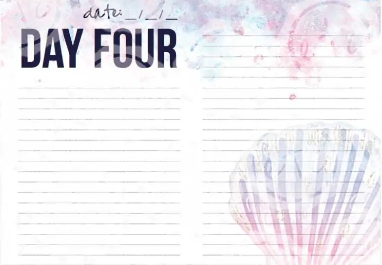Ocean Insert Cruise (Happy Planner, Printable) - Happily Ever After