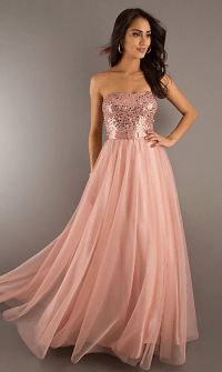 peach prom dress | happiness code prom gowns 2013